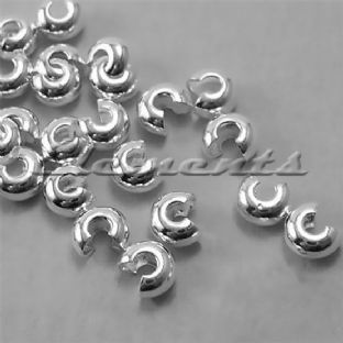 Sterling Silver 3mm Crimp Bead Covers